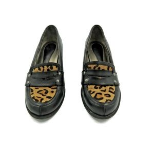 Naturalizer N 5 Cheetah print Leather Loafers
